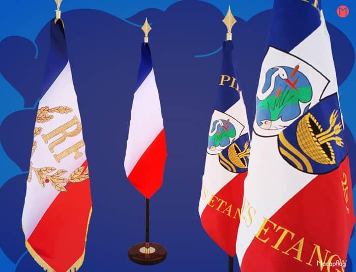 Le drapeau France se décline en drapeau de décoration et d'ornement