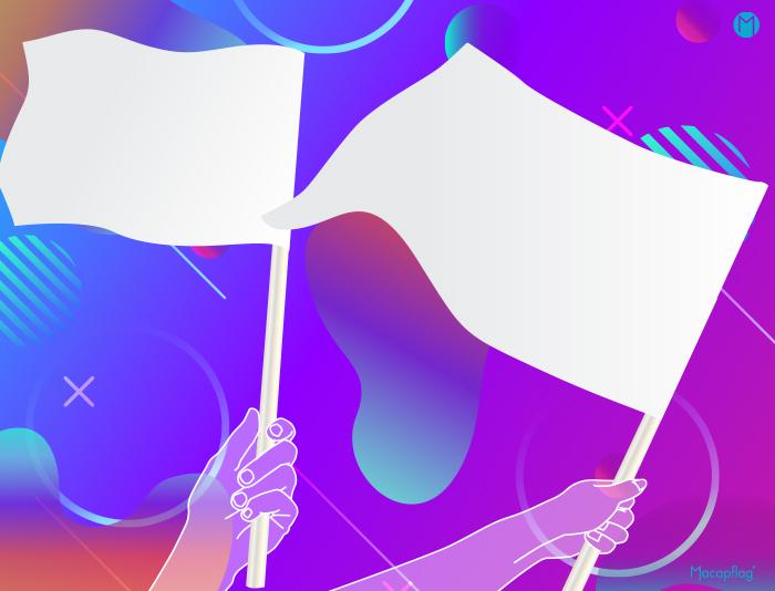 drapeau avec hame