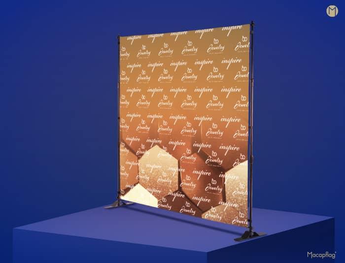 Photocall ou mur d'image personnalisé sur toute sa surface