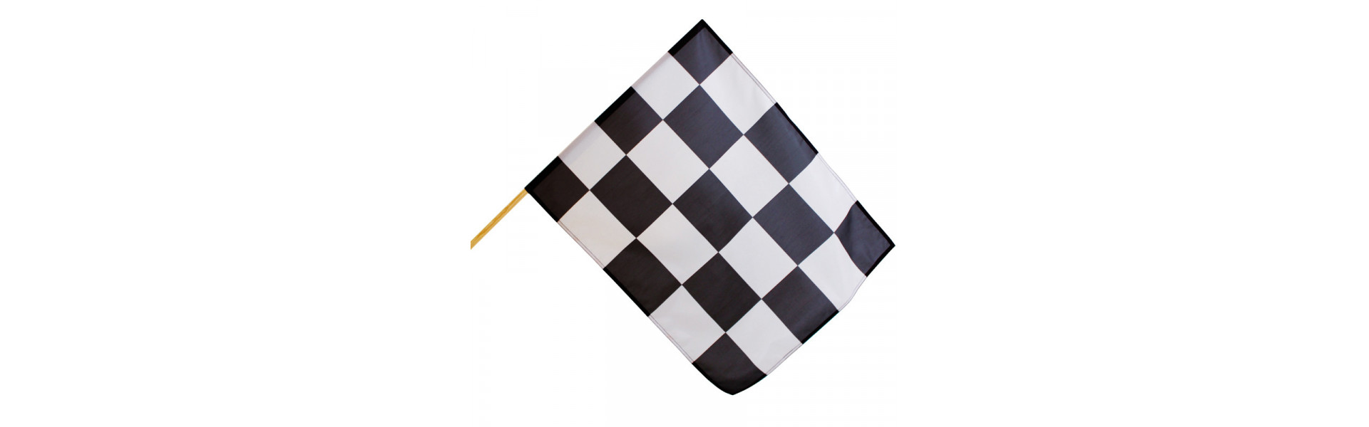 Drapeau course automobile