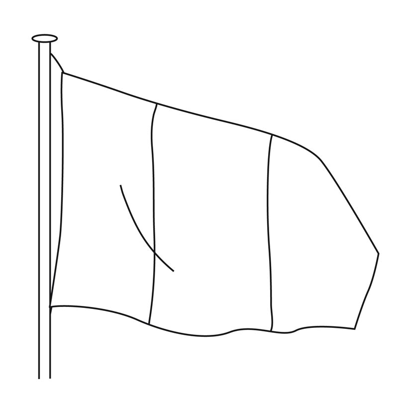 Drapeau officiel pour mât - MACAP