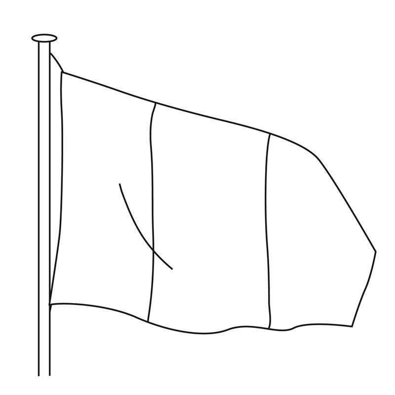 Pavillon - Drapeau officiel pour mât - MACAP